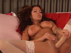 Wet pussy in white stockings tube porn video