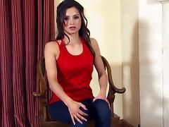 Pretty Solo Model Brunette With Hot Ass Masturbating tube porn video