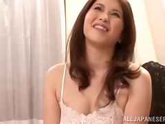 Chubby Japanese babe with big tits gives a blowjob before getting her pussy drilled hardcore tube porn video