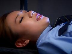 Sexy Japanese cop Kaori Maeda gets fucked at her work place tube porn video