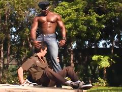 Horny Black Police Officer Fucks A Naughty Stud Anal Hardcore tube porn video