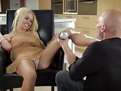 Sexy blonde Jesse Jane gets covered in whip cream then in cum tube porn video