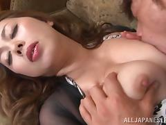 Voluptuous Japanese pornstar moans while getting her pussy licked then fucked hardcore tube porn video