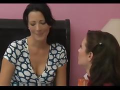MILF seduces her friend for amazing lesbian sex tube porn video
