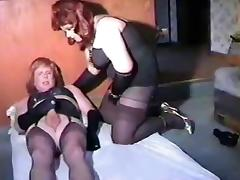 Crossdresser couple tube porn video