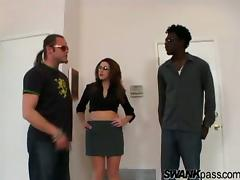 Isabella Soprano gets cum on tits after handling big black cock hardcore tube porn video