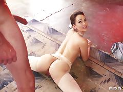Big tits ballerina Aleska Diamond is super flexible in hardcore video tube porn video