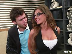 Jewelry thief fucks sexy store clerk Madison Ivy in her wet cunt tube porn video