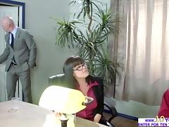 Stephani gets fucked in front of officemates by her boss Johnny tube porn video