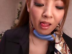 Hitomi Tanaka rubs a guy's weiner with her enormous boobs tube porn video