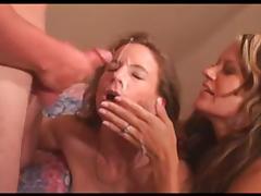 Amateur cum sharing milfs tube porn video