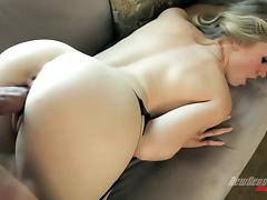 Tracey Sweet gets her hairy pussy hammered while wearing thigh highs tube porn video