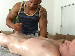 Wild blowjob for gay tube porn video