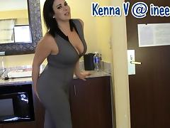 New Kenna V. wetting her panties and spandex tube porn video