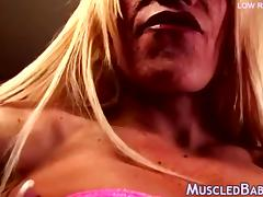 Gym Milf Toys Her large wet clitoris tube porn video
