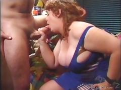 BBW Jenny Joyce gives blowjob then fucked missionary while she yells tube porn video
