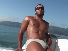 Matheus & Alan on a boat tube porn video