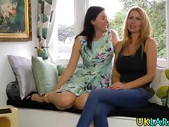 Busty british lesbos play tube porn video