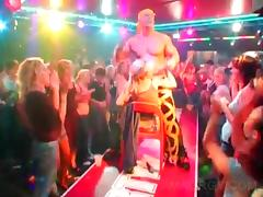 Party blondie gets stripper lapdance at big orgy tube porn video