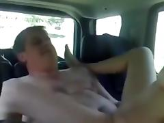 Couple shagging on the backseat tube porn video