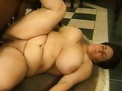 Fat White Women In A Threesome With A BBC tube porn video