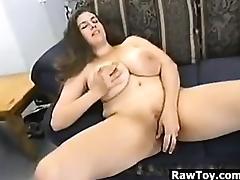 BBW With Big Tits From Britain Masturbating tube porn video