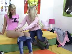 Two Naughty Blonde Sweethearts In A Hot Lesbian Fuck Action tube porn video