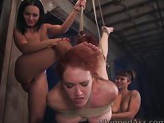 Francesca Le in lesbian BDSM tube porn video
