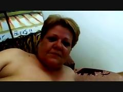 Horny Fat Granny fucked hard in Couch tube porn video
