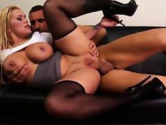 Busty girl hardcore gang bang tube porn video