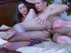 NylonFeetVideos Video: Crystal and Rolf tube porn video