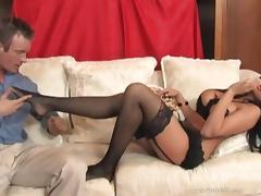 Audrey Bitoni enjoys foot job and hardcore fucking after blowjob tube porn video