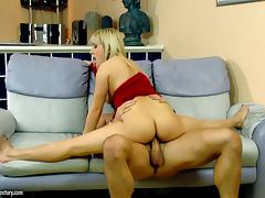 Flexible legs of a MILF get thrown around the room tube porn video