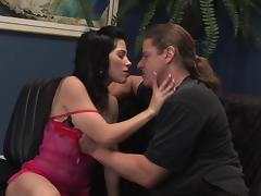 Rebeca Linares takes it in her vag and asshole tube porn video