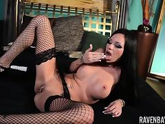 Raven Bay in Hot Stockings with Toys tube porn video