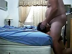 Amateur Asian Wife Bangs fat Hubby and swallows tube porn video