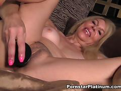 Erica Lauren in Black Dildo In Bed tube porn video