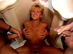 Alexa Parks, Buddy Love, Peter North in two vintageporn studs cum on bimbo's naked boobs tube porn video