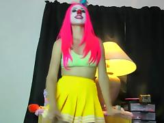 The sexiest Clown your ever see tube porn video