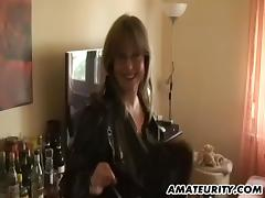 Amateur Milf with big tits sucks and fucks with cum tube porn video
