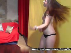 Hot lapdancer has sex with a camera guy tube porn video