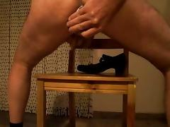 a shoe of my wife US size 8 in my ass tube porn video