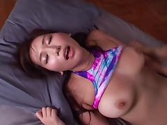 Nice curvy Japanese babe shows her cock milking skills tube porn video