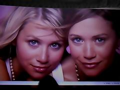 Cum Tribute for the Olsen Twins tube porn video
