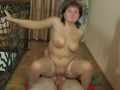 Russian milf Viola fucks young loverboy tube porn video