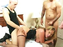 Cute blonde is in a hardcore gangbang today tube porn video