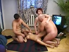 Old & young russian swingers tube porn video