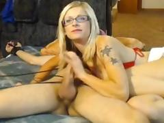 Wife ties husband and teases him then jerks him off tube porn video