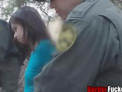 Taylor sucked dick deepthroat while cuffed in a tree tube porn video