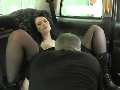 British amateur creampie by horny cab driver tube porn video